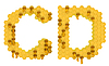 Honey font C and D letters | Stock Illustration