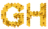 Honey font G and H letters | Stock Illustration
