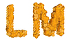 Honey font L and M letters | Stock Illustration