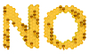 Honey font N and O letters | Stock Illustration