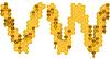 Honey font W and V letters | Stock Illustration