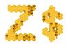 Honey font Z and USD symbol | Stock Illustration