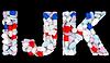 Medical font I J and K pills letters | Stock Foto