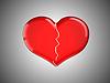 사랑을 잃었다. 빨간색 실연 | Stock Illustration