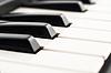 Photo 300 DPI: Black and white - Piano keyboard