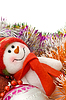 Christmas snowman with decoration balls | Stock Foto