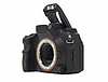 Professional Dslr camera body with opened flash | Stock Foto