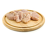 Raw Chicken fillet on hardboard | Stock Foto