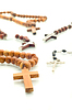 Religion divercity - rosary beads over white | Stock Foto