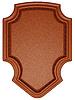 Фото 300 DPI: Браун сшитые теги или этикетка на белом фоне