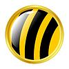 Vector clipart: Bee button