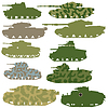 Vector clipart: Military tanks