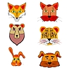 Vector clipart: Set of cartoon animals
