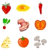 Vector clipart: Set of food