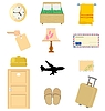 Vector clipart: set of hotel`s objects