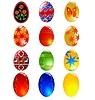 Set of different easter eggs | Stock Vector Graphics