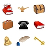 Vector clipart: set of different vintage objects