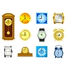 Vector clipart: set of different kinds of clocks