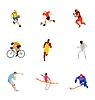 Set of different kinds of sport | Stock Vector Graphics