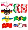 set - symbols of different countries