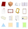 Vector clipart: big set of different objects with blank paper