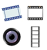 Vector clipart: set of photographic and cinematic objects