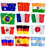 set of waving flags
