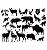 set of different forest animals