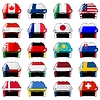 Vector clipart: set of hockey helmet in national colors