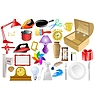 Vector clipart: the big set of different home related objects