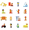 Vector clipart: the big set of icons of workers