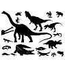 silhouettes of reptiles and dinosaurs
