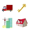 Vector clipart: set of real estate icons
