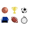 Vector clipart: set of sport related objects