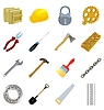 Vector clipart: the set of simple industrial tools
