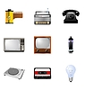 Vector clipart: set of different vintage electronics