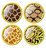 Vector clipart: set of buttons of animal skins