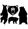 Vector clipart: set of bear silhouettes