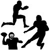 Vector clipart: football players