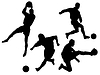 Vector clipart: silhouettes of football players