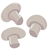 Vector clipart: white mushrooms or champignons
