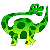Vektor Cliparts: Lustiger Dinosaurier