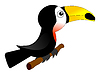 Vector clipart: Funny toucan