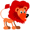 Vector clipart: Funny lion