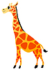 Vektor Cliparts: Lustige Giraffe