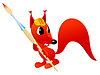 Vector clipart: Funny squirrel