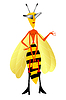 Vector clipart: Funny wasp