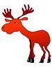 Vector clipart: Funny moose