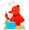Vector clipart: Funny bear