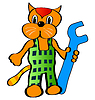 Vector clipart: Funny cat